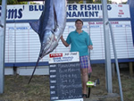 ANGLER: Maria Carnevale. SPECIES: Blue Marlin. WEIGHT: 149.4 Kg.